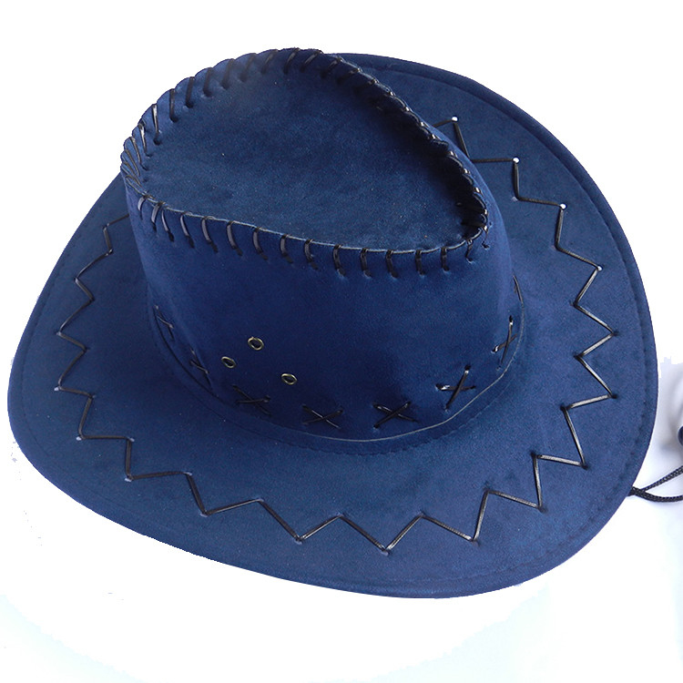 Child And Adult Suede Cowboy Outdoor Boonie Hat , Waterproof Promotional Bucket Hats